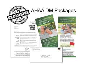 Sample of AHAA letter packages